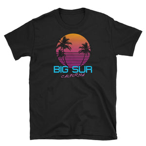Big Sur California Retro 80's Short-Sleeve Unisex T-Shirt
