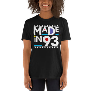 Made in 1993 Retro 90s Short-Sleeve Unisex T-Shirt