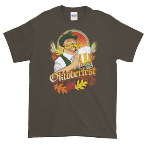 Oktoberfest Bavarian Beer Fall Festival Autumn Leaves Short-Sleeve T-Shirt - Styleuniversal