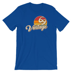 Vintage 1969 50th Birthday Men's Women's Short-Sleeve Unisex T-Shirt
