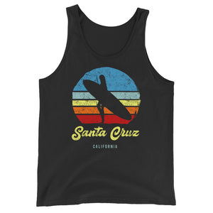 Santa Cruz California Retro Surf Unisex  Tank Top - Styleuniversal