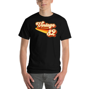 Vintage 1982 Warm Retro Lines CLASSIC FIT Short-Sleeve T-Shirt