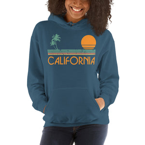 Vintage California Sunset Hooded Sweatshirt