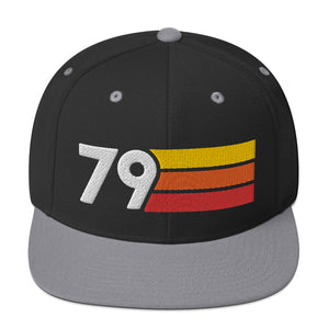 1979 RETRO NUMBER 79 BIRTHDAY REUNION ANNIVERSARY CUSTOM EMBROIDERED SNAPBACK HAT
