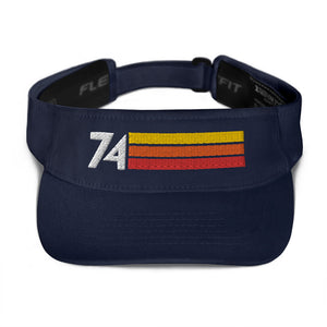 1974 RETRO BIRTHDAY ANNIVERSARY REUNION NUMBER 74 VISOR