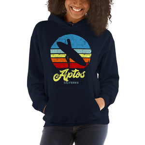 Aptos California Surfer Girl Retro Hoodie - Styleuniversal
