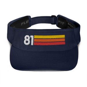 1981 Retro Birthday Anniversary Reunion Number 81 Visor