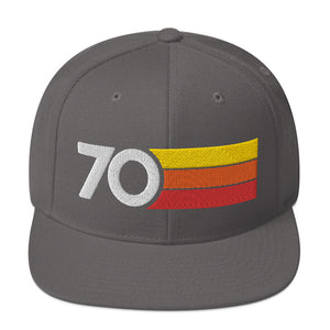 1970 RETRO NUMBER 70 BIRTHDAY REUNION ANNIVERSARY CUSTOM EMBROIDERED SNAPBACK HAT