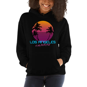 Los Angeles California Retro 80's Hooded Sweatshirt