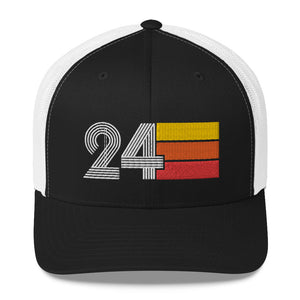 1924 RETRO BIRTHDAY GIFT NUMBER 24 MENS WOMENS TRUCKER HAT