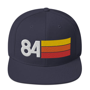 1984 RETRO NUMBER 84 BIRTHDAY REUNION ANNIVERSARY CUSTOM EMBROIDERED SNAPBACK HAT