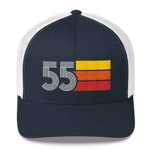 1955 Retro Birthday Gift Mens Womens Trucker Cap