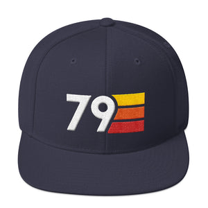 Retro 1979 40th Birthday Hat Mens Womens Flat Brim Snapback