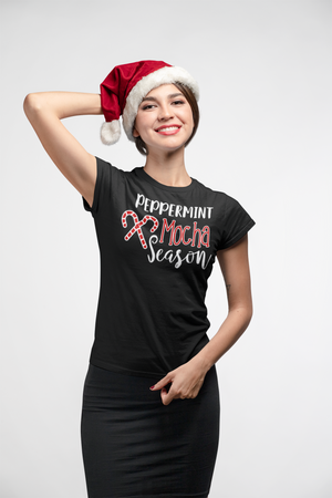Peppermint Mocha Season Holiday Coffee Lovers Women's short sleeve t-shirt - Styleuniversal