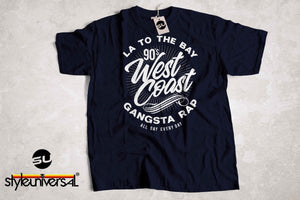 90's West Coast Gangsta Rap Short-Sleeve Unisex T-Shirt - Styleuniversal