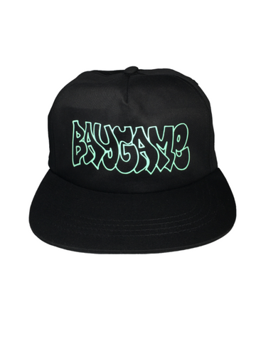 Baygame Hollow Unstructured Hat Black/Mint