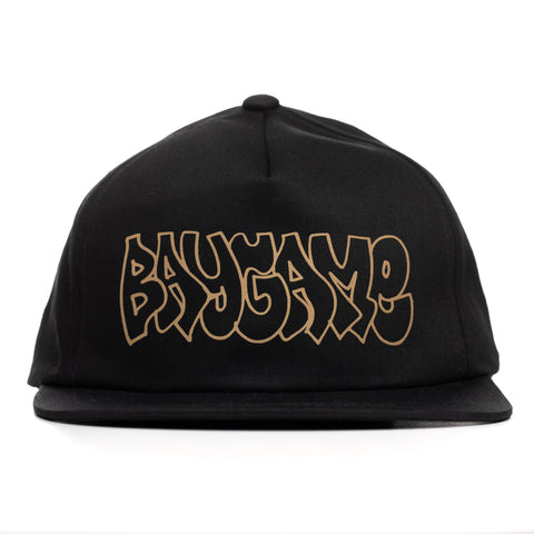 Baygame Hollow unstructured cap 3M reflective Blk/Gld