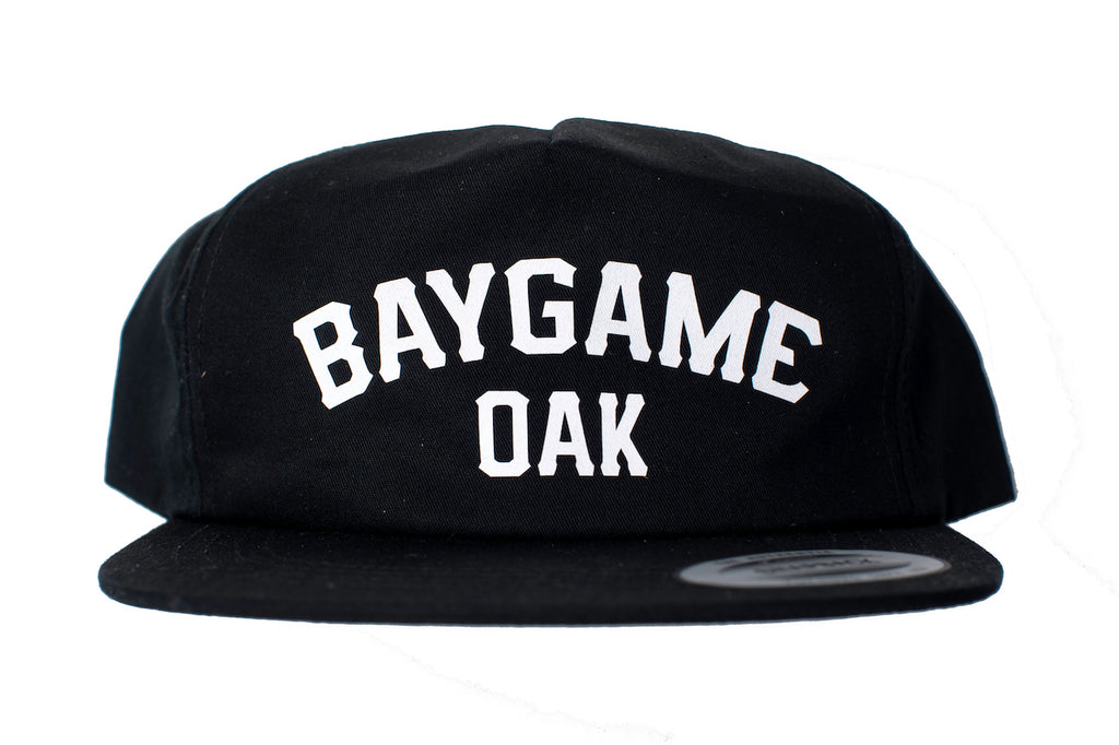 Baygame Pastime unstructured cap Black/White (Oakland)