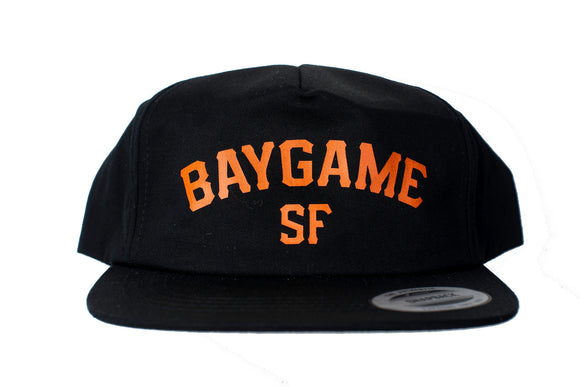 Baygame Pastime unstructured cap Black/Orange