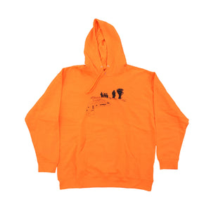 Baygame 3rd and Army Hoodie Hi Vis Orange