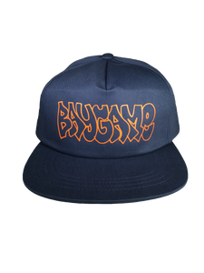 Baygame Hollow Unstructured Hat Navy/Orange
