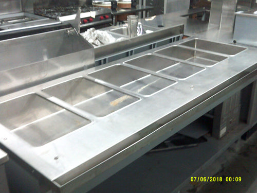 6 Well Custom Cold Food Table
