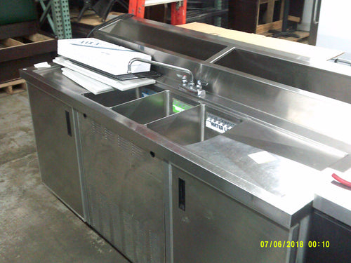 3 Compartment Sink W/ Refrigerated Rail