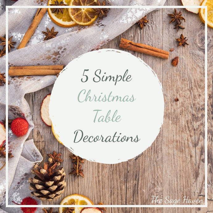5 Ways To Decorate The Dinner Table for Christmas