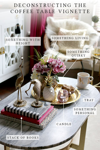 How to create a coffee table vignette - coffee Table Styling