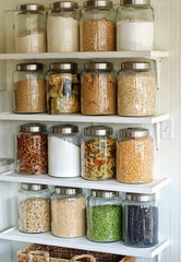 Food storage jars in utility room - The Sage haven
