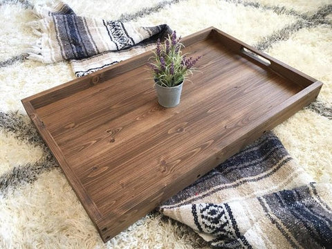 Large wooden tray - coffee table tray - handmade tray