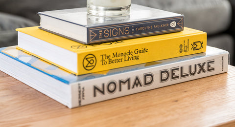 Coffee table books - book stack - book pile