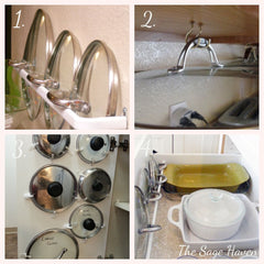 How to store lids for pots and pans - home decor blog - the sage haven