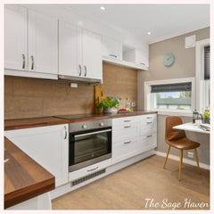 How to organise kitchen cabinets - home decor blog- the sage haven