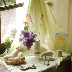 Spring nature table on windowsill - the sage haven
