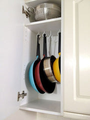 kitchen storage - hanging pots and pans - the sage haven