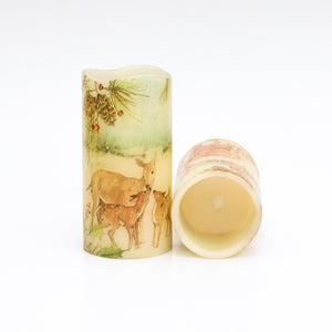 deer family flameless candle set - the sage haven, ireland