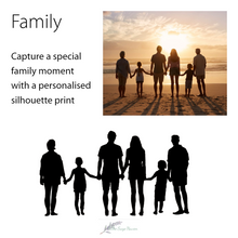 Load image into Gallery viewer, details of creating family silhouettes