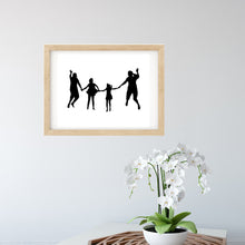 Load image into Gallery viewer, Personalised Family Print - Silhouette Wall Art - The Sage Haven, ireland
