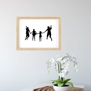 Personalised Family Print - Silhouette Wall Art - The Sage Haven, ireland
