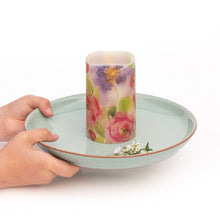 Load image into Gallery viewer, hands holding Watercolours LED Wax Pillar Candles - the sage haven ireland
