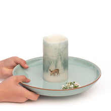 Load image into Gallery viewer, Flameless Christmas Candles centrepiece - Handcrafted Woodland Deer Design - the sage haven ireland