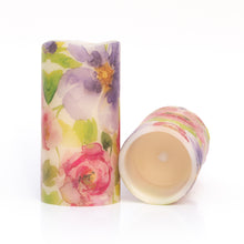 Load image into Gallery viewer, set of 2 Watercolours LED Wax Pillar Candles - the sage haven ireland