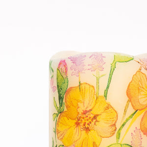 details of Nasturtium Battery Operated LED Candle - the sage haven ireland