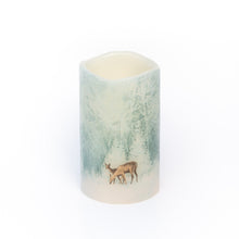 Load image into Gallery viewer, Flameless Christmas Candles - Handcrafted Woodland Deer Design - the sage haven ireland