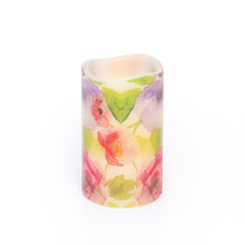 Load image into Gallery viewer, Watercolours LED Wax Pillar Candle - the sage haven ireland