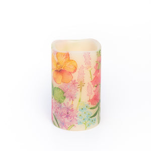 Nasturtium Battery Operated LED Candle - the sage haven ireland