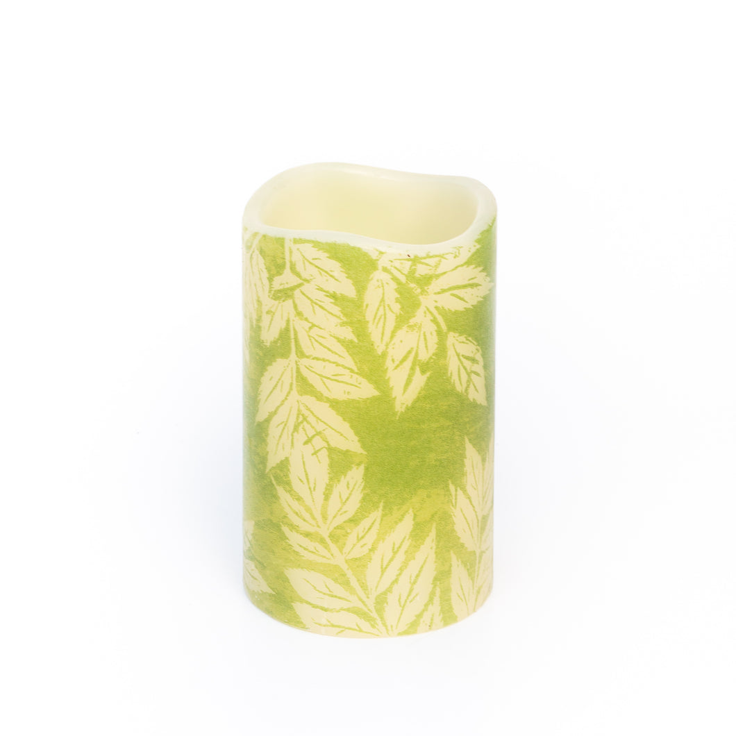 Lucent Leaves Decorative Battery Operated Candle - the sage haven ireland