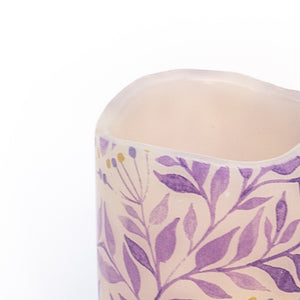 details of Purple Leaf Pet Safe Candle - the sage haven ireland