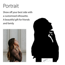 Load image into Gallery viewer, details of creating your own portrait silhouette